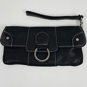 Roots Leather Wristlet